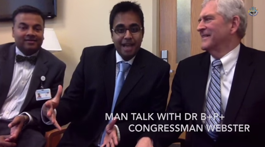 Man Talk Video Blog: Congressman Webster (10th District Florida) chats about Men's Health and drives the TESLA